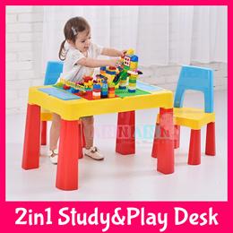 ★FREE TOY★Building Blocks Study Activity Desk Table Chair★Kids Children Activity Birthday Xmas Gift
