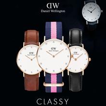 CLASSY ★ Daniel Wellington Watch ★ 34mm/26mm Jam tangan wanita berlian 100% Asli DW Jam tangan