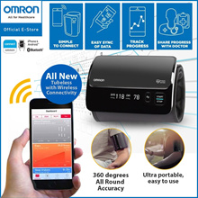 Omron Portable Smart Elite Upper Arm Blood Pressure Monitor HEM-7600T [5 Years Local Warranty]
