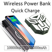[6 free gifts]Portable Wireless Charger Power Bank Quick Charge Dual USB output for IPhoneX Samsung