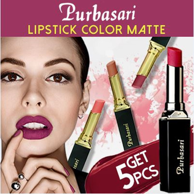 (GET 5PCS ) PAKET PURBASARI LIPSTIK MATTE Deals for only Rp160.000 instead of Rp160.000