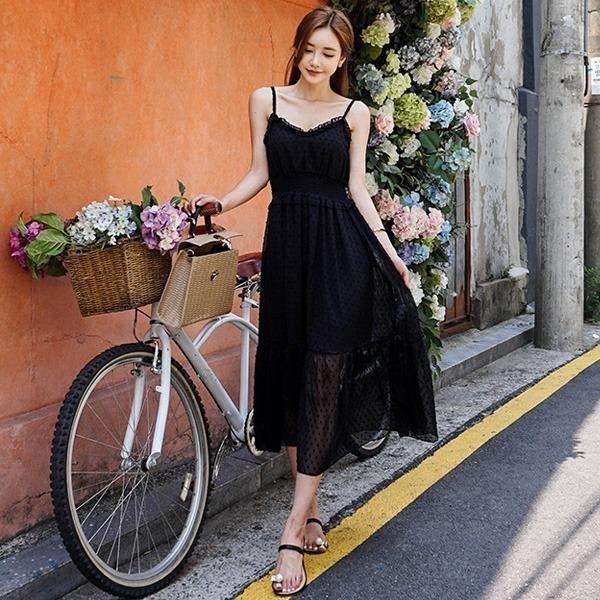清純ボスワンピースnew ロング/マキシワンピース/ワンピース/韓国ファッション