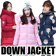 2017women winter down jacket / couple wear coat  /-40 to 20 degrees/ Cotton-Padded Jacket/ Wind rain