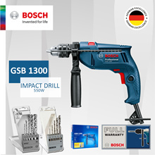 [Official E-Store] Bosch GSB 1300 Impact Drill. Come with free Drill Bit Sets!