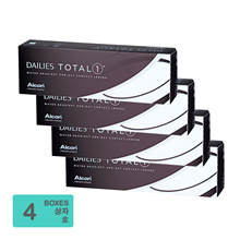 Alcon Dailies Total 1 Water Gradient One-Day Contact Lenses (30pcs/box) x4
