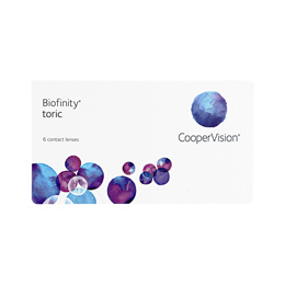 CooperVision Biofinity Toric (6 lenses/pack) PWR 0.00 ~ -8.00