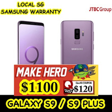 GALAXY S9 / S9 Plus | LOCAL SAMSUNG SG WARRANTY | LOCAL SELLER | 64GB / 256GB internal | 4/6GB RAM