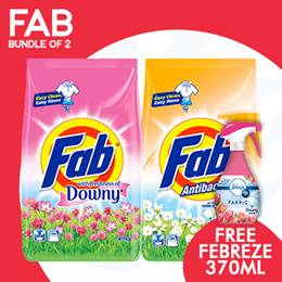 [PnG]【BUNDLE OF 2】FAB Detergent Powder 4.7-5.1KG - Get Free Febreze!
