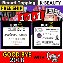 LIMITED SUPER SALE!!★GOOD BYE 2018 With Beauti Topping★K-Beauty★Lucky Box★3CE/APIEU/PRIPERA/CLIO/MI