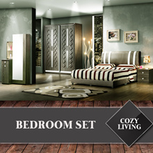 Cozy Living Bedroom Set- Consists of *5ft / 6ft / 7.5ft Wardrobe* *Side Table* *Dresser* *5ft / 6 ft Bed* Various Models To Choose From!