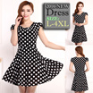 2016New Arrival♣Summer Dresses♣More than 50 designs!♣Pretty casual Dress♣ Polka dots strips diagonal