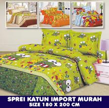 Sprei Katun Import Murah Uk 180x200 / 20 Motif Available