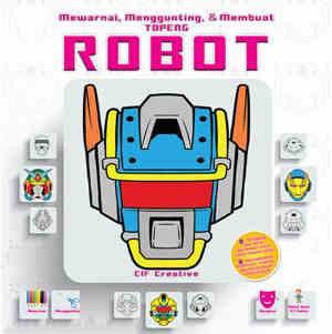 Qoo10 Mewarnai Menggunting Membuat Topeng Robot Buku Hobi