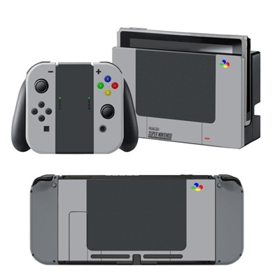 Gray Vinyl Skin Sticker for Nintendo Switch Console Protector Case Cover Decal