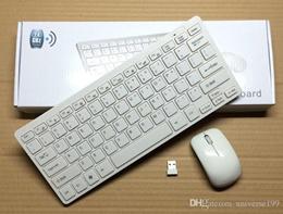 NEW 2.4G White Wireless PC Keyboard + Mouse Keypad Film Kit Set For DESKTOP PC Laptop