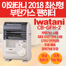 Iwatani cassette gas fan heater CB-GFH-2 / for home camping / free shipping / additional amount NO