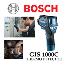 Bosch GIS 1000C Accurate measurement and easy recording of temperature and moisture levels. Integrated camera for immediate documenting. Connectivity: can be connected to smartphones. Bright LED.