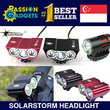▌♥Solarstorm X2 X3 x6♥ ▌Headlight+13200mAh Battery ▌Safety front LED light Solar Storm Waterproof
