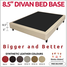* 2018 NEW ITEM * 8.5 INCH HEIGHT DIVAN BED BASE | 4 SIZES 6 COLOR AVAILABLE