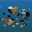 Lovely 16PCS Silver Mirror Hearts Decoration Plastic Room 3D Wall Stickers