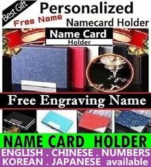 ★(SG Seller)★Free Engraving Name Namecard holder Personalized Business Name Card holder card case xm