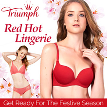 Triumph / Push Up / Lacey / Bra / Women Wear / Detachable Straps / Full Cup / Sloggi /