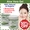 50% OFF - Biofinest Aloe Vera Gel: Absorb Fast/ No Sticky Residue - Best Organic Moisturizer For Sun Burn/Eczema/ Insect Bites/ Dry Damaged Aging skin/ Razor Bumps /Acne - For Face/ Hair/ Body