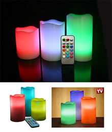 [Festive Sale] 3 in 1 LED Candle Lights with 12 Colors Control Mode Battery Operated