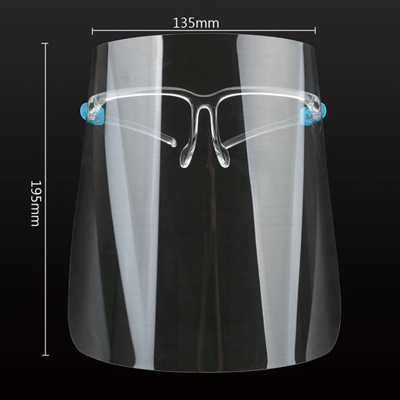 Face Shield with Glasses Frame (5 pieces)