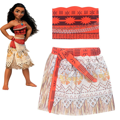 7cfa3507da 2018 Baby Princess Moana Cosplay Costume for Children Vaiana dress Costume  for Halloween Costumes fo