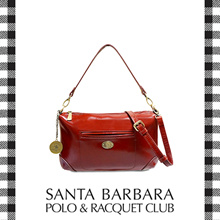 Santa Barbara Polo and Racquet Club Full Leather Shoulder Bag