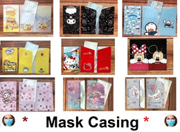 ★Sumikkogurashi Cartoon Mask Case★ Face Mask Storage Holder★Mask Casing★Surgical 3 ply mask★