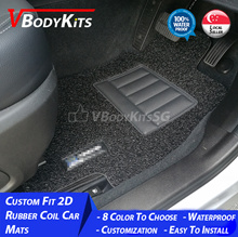 2D Custom Fit Car Coil / Carpet Floor Mats for HONDA Cars