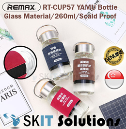 Remax RT-CUP57 Yamu Glass Bottle Skidproof Scald Proof 260ml Tumbler Hot Cold