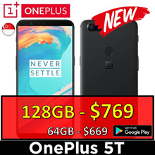 NEW! One Plus 5T |  128GB at $720 [ Oxygen OS with Playstore ] Best Seller!