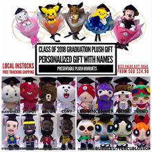 INSTOCK 20CM:League Of Legend AngryBird NBA Graduation Plush Bouquet [+Names!]
