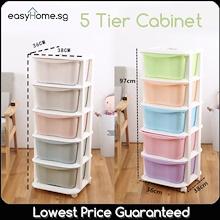 5 Tier Cabinet - Plastic Storage Box Drawer Organizer Container