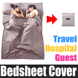 Bed Sheet Cover / Pillow Case Travel Hospital Guest Hotel Bed  / Cotton Bedsheet Foldable Portable
