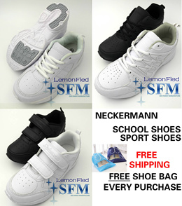 [SG LOCAL] NECKERMANN ALL WHITE ALL BLACK SCHOOL SHOES