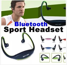 Bluetooth Sports MP3 Music Player Wireless Headset/Running Hanging Ears Headphone with Micro SD/TF Card
