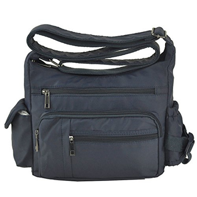 898de6aec89d Volcanic Rock Shoulder Bags Messenger Handbags Multi Pocket Waterproof  Crossbody Bags(6068-Blue)