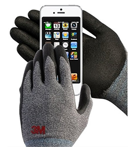 3M Comfort Grip Nitrile Foam Work Gloves Super Grip 200 General Use for Safety Texting Smartphone