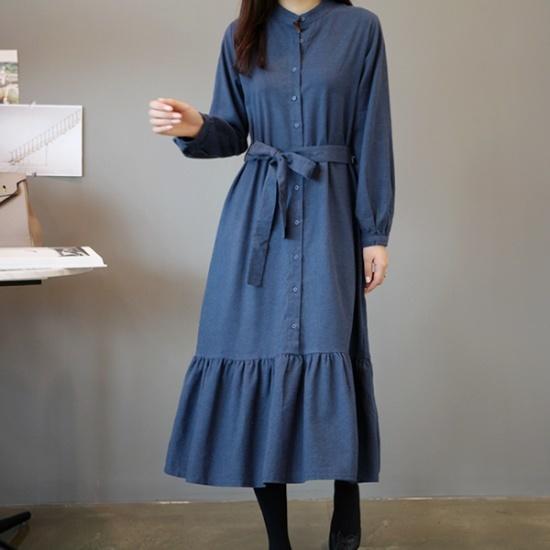 ガールズデイリーとシャーリングワンピース 綿ワンピース/ 韓国ファッション