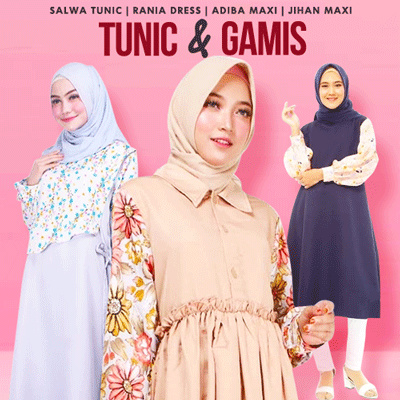 Original Moeslem Tunic Gamis Deals for only Rp65.000 instead of Rp65.000