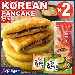 1+1★Pancake★Frozen Sweet Rice Green Tea Pancake Frozen Korean Food SINGSINGMART