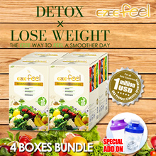 [4 Boxes] EZEE FEEL 1st SG brand•weight lost-natural fiber drink
