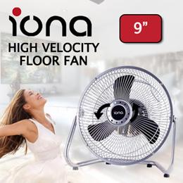 IONA Typhoon M2 9Inch Velocity Floor Fan / Silent Operating Motor
