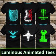 ☆ Luminous Unisex Animated Tee ☆ Naruto / One Piece / Gundam / Big Hero / Bleach/ T Shirt
