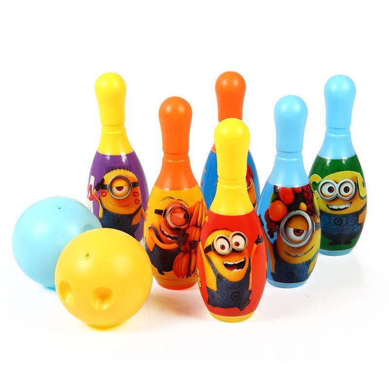 【Minions官方授权】小小兵儿童保龄球 玩具套装 室内宝宝球类运动玩具 户外亲子运动玩具
