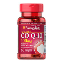 Puritans Pride Q-SORB™ Co Q-10 100 mg / CoQ-10 Coenzyme Q-10 / 60 Softgels / Item #015593